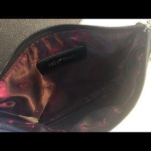 Betsey Johnson Bags - Betsy Johnson Black Wristlet Rose Studded